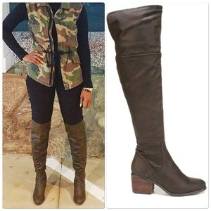 Report Brown Over-the-Knee Boots